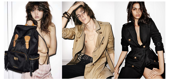 UK – Burberry's SS-16 campaign casts new talent, and the Burberry Rucksack