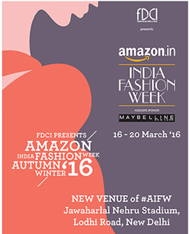 India –FDCI's List and Schedule for AIFW A/W2016 announced