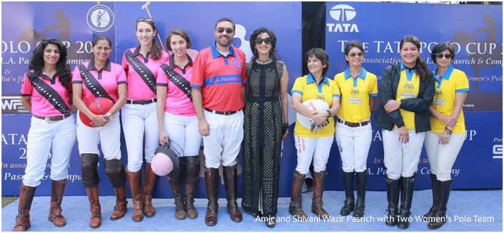 India – First All Women's Polo teams for Tata Polo Cup 2016 at Jaipur Polo Grounds, Delhi