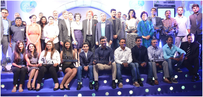 India –Winners of India Golf Awards 2016 announced and celebrated