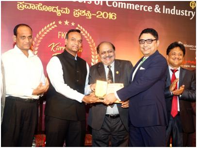 India – Taj West End wins the 'Best in Luxury Hotel Award' at Karnataka Tourism Awards 2016