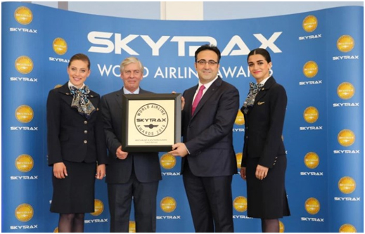"""Turkey – Turkish Airlines 6 times winner of """"Best Airline in Europe"""" in Skytrax World Airline Awards"""