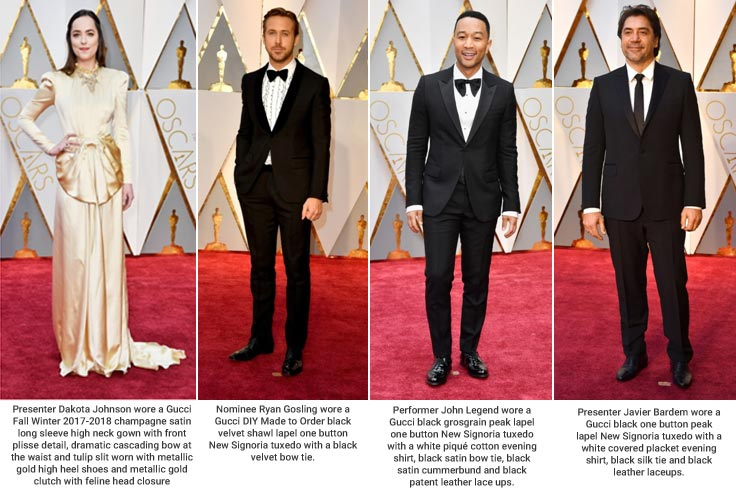 USA – Celebrities at the 89th Academy Awards red carpet in Gucci, Swarovski, Michael Kors
