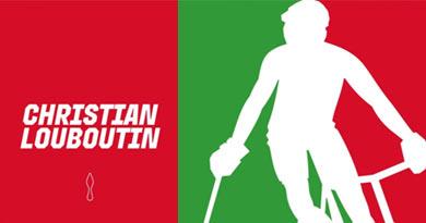 Christian Louboutin's  'Aurelien' sneakers for Pitti Uomo  at Hardcourt Bike Polo