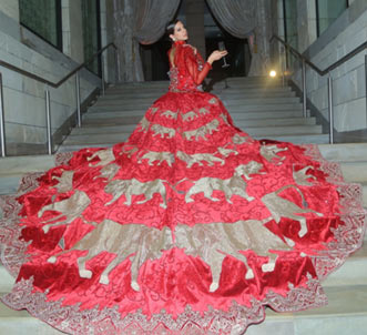 India – Manav Gangwani's show at The Lodi for FDCI India Couture Week