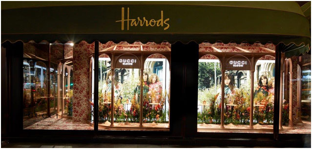 London – Harrods' show windows to display Gucci's enchanted garden through August