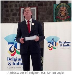 India – Embassy of Belgium creates logo to commemorate 70 year of Indo-Belgian association
