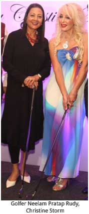 India / USA – Recording artist Christine Storm launches Golf & Resort wear line in India