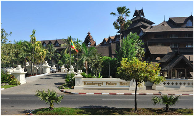 Myanmar – Kandawgyi Palace Hotel in Yangon destroyed by fire