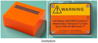 Italy – Gucci's sends timer as invitation for its Fall-Winter 2018 show