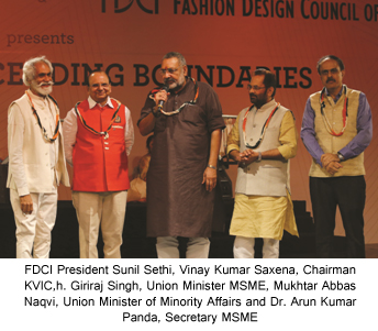 India – FDCI and KVIC's Khadi fashion show at SME Convention 2018 hosted by MSME