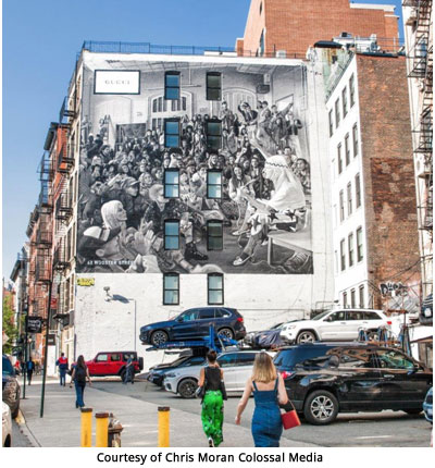 Italy / US / UK/ China – Gucci's Pre-fall advertising campaign on Art Walls