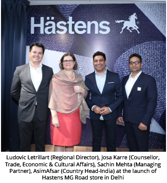 India –Hästens opens its second store on MG Road Delhi