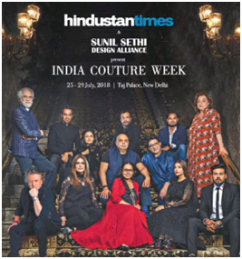 India – FDCI's India Couture Week 2018from July 25-29, 2018