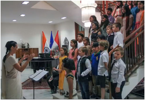 India – Delightful performance by the Mozart Choir& Children of DSND at Austrian Embassy