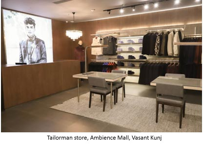 India – Tailorman launches first Delhi store in Ambience Mall Vasant Kunj