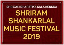 India – 72nd Shriram Shankarlal Music Festival 2019 from March 14-17