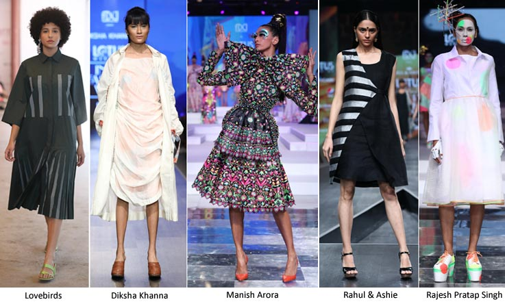 The New Age Dress Lotus Makeup India Fashion Week Spring/Summer 2020