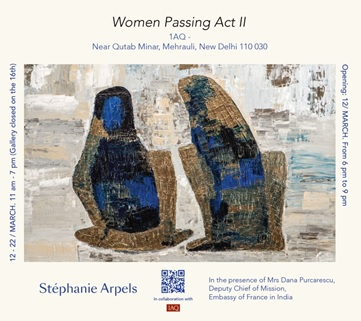 India – Artist Stephanie Arpels solo show coming up at 1 AQ Art Gallery