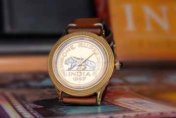 India – Jaipur Watch Company's new collectible watch with antique Raj era coin
