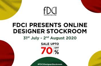 India – FDCI organises online discount sale at Designer Stockroom