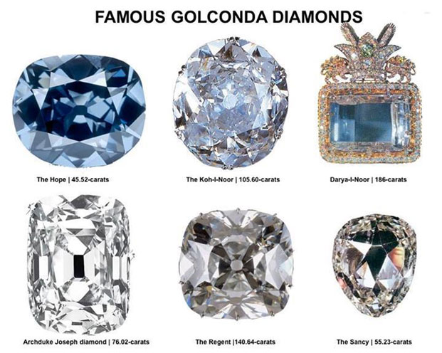 Famous Golconda Diamonds