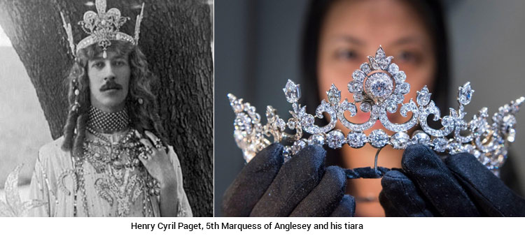 Henry Cyril Paget, 5th Marquess of Anglesey and his tiara