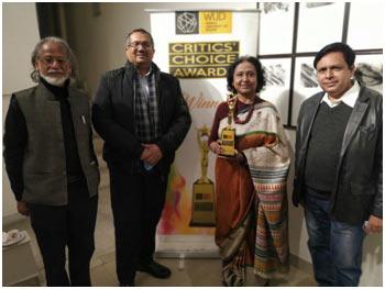 India – World University of Design gives Critics Choice Award to Artist Sangeeta Gupta