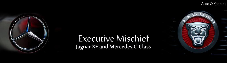 Executive mischief Jaguar XE and Mercedes C-Class