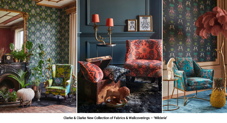 Clarke & Clarke New Collection ofFabrics & Wallcoverings