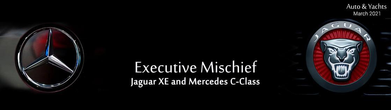Jaguar XE and Mercedes C-Class