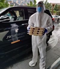 India – JW Marriott New Delhi home-delivers complimentary meals to Covid+ patients