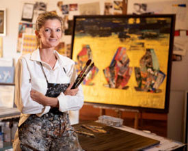 India – Artist Stéphanie Arpels' SALE of her canvases to fund Oxygen initiatives in Delhi