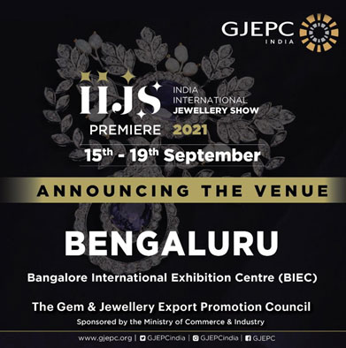 India – Jewellery Trade Show IIJS Premiere 2021 returns to physical spaces in September